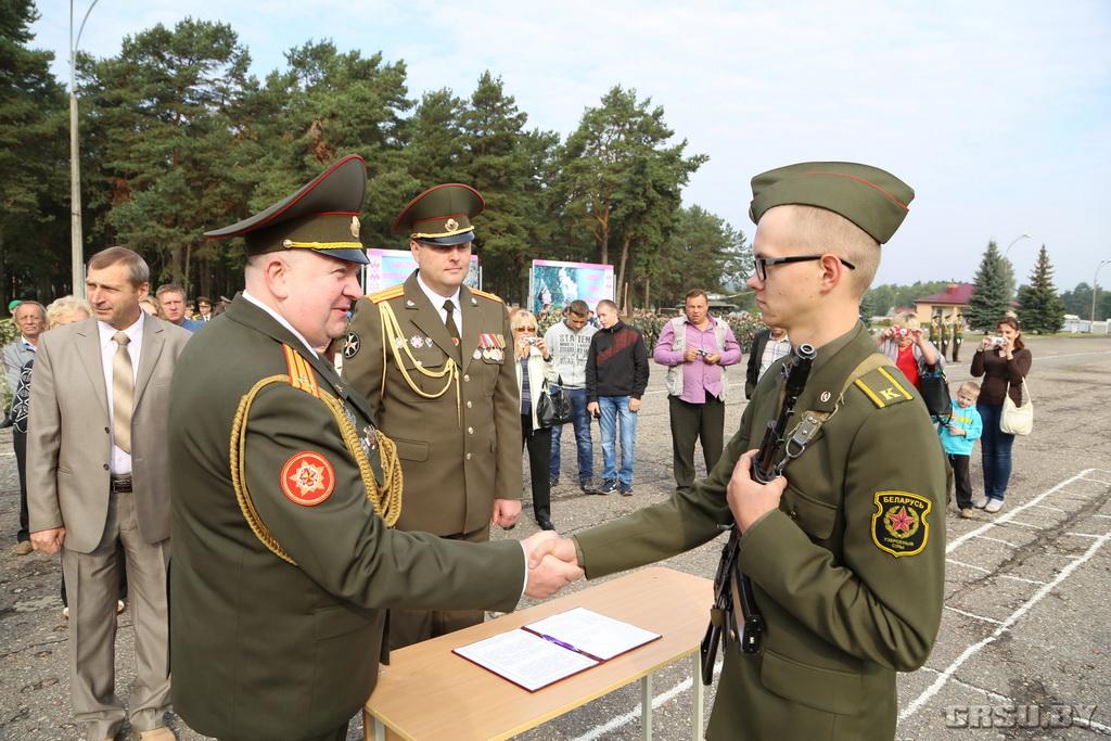 Поздравления с принятием военной присяги курсанты